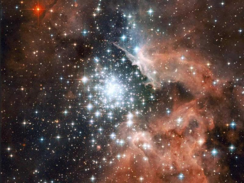 This Hubble space telescope image shows giant star-forming Nebula with massive young stellar clusters. Reuters/File