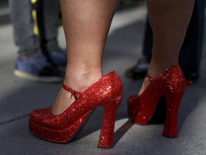 A man wearing a pair of women's high heels attend the 10th annual Walk A Mile In Her Shoes to raise awareness against sexual violence in Plaza De Cesar Chavez in San Jose, California. REUTERS/Stephen Lam