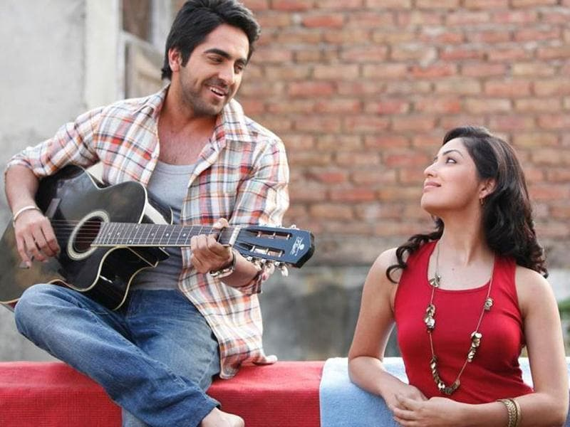 Ayushmann Khurrana and Yami Gautam in a still from Vicky Donor, a film directed by Shoojit Sircar and produced by John Abraham.