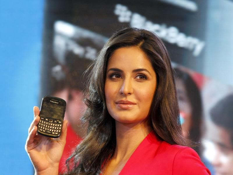 Pretty Katrina Kaif poses with Blackberry.