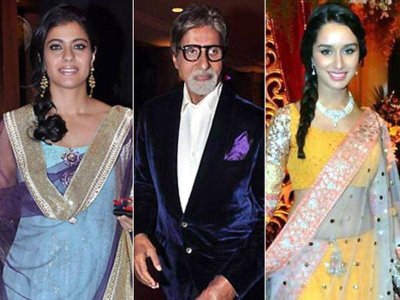 Many B-Town biggies turned up to bless Bappa Lahiri and Taneesha Verma at their wedding reception. Here's a look.