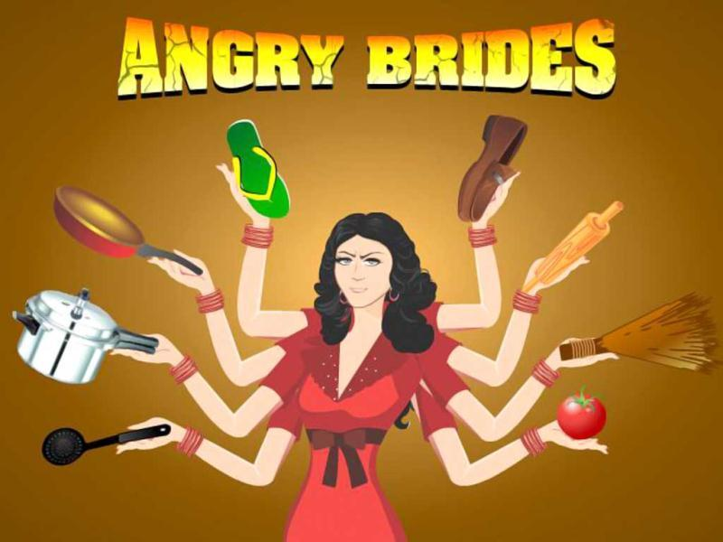 Angry Brides: Sick of pigs? Maybe you'd like to trash some humans now. Angry Brides,a game by popular matrominial website shaadi.com and ibibo.com allows players to fling everything from red stilettos to broomsticks at greedy grooms asking brides for dowry. Play it free at www.angrybrides.in