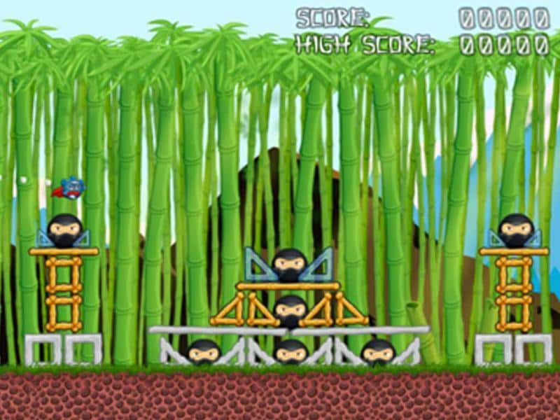 Pandas vs Ninjas: Defend the panda homeland by fighting Ninja invaders and destroying their camps. The Ninjas hide out in structures made of wood, of course. Hmm, now where have we seen that before? Available on Android