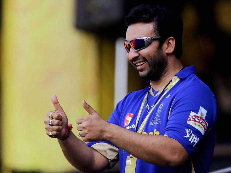 Rajasthan Royals' owner Raj Kundra during the IPL-5 match against Chennai Super Kings in Chennai. (PTI Photo/R Senthil Kumar)