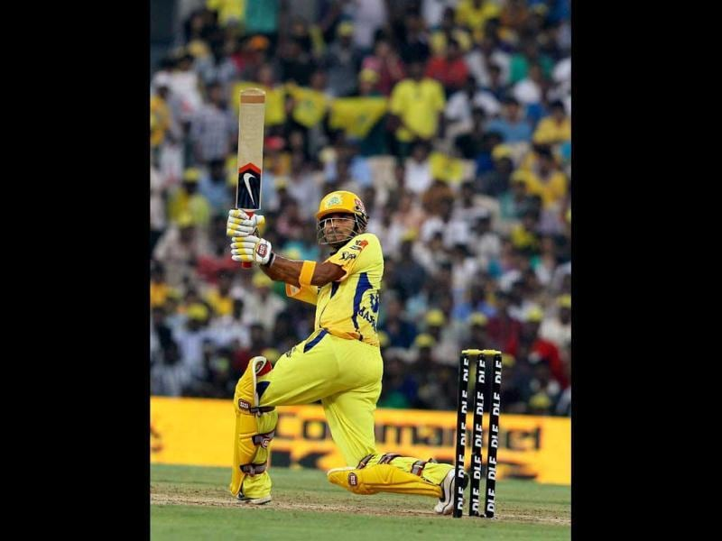 Chennai Super Kings' Subramaniam Badrinath plays a shot during the IPL-5 match against Rajasthan Royals at MAC stadium in Chennai. (PTI Photo/R Senthil Kumar)
