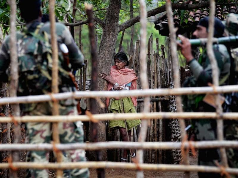 The jungles, across Maoist hit states, are swamped with uniformed men, wielding state-of-the-art automatic rifles, mortars and rocket launchers but despite the 'massive and coordinated operations', the red corridor is only expanding. HT Photo/Ajay Aggarwal