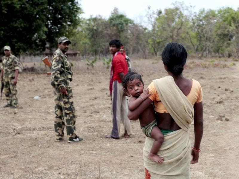 Tribals in Naxal affected areas constantly live under the suspicion of being Maoist sympathiser. HT Photo/Ajay Aggarwal