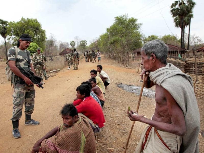 The tribals suffer uninformed search operations and questioning on a regular basis. HT Photo/Ajay Aggarwal