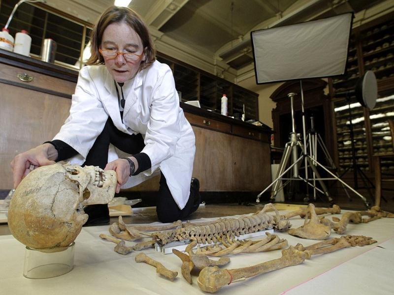 A scientist puts together a human skeleton at the Naturhistorisches Museum Wien (Museum of Natural History) in central Vienna. Reuters Photo/Herwig Prammer
