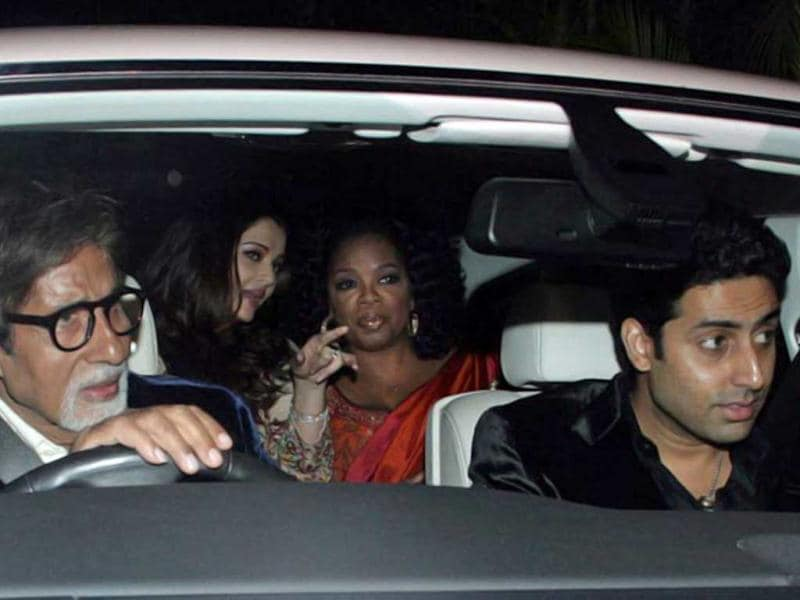 While Big B played chauffer, the other Bachchans including Abhi-Ash and Jaya were busy showing Oprah around during her visit to Mumbai.
