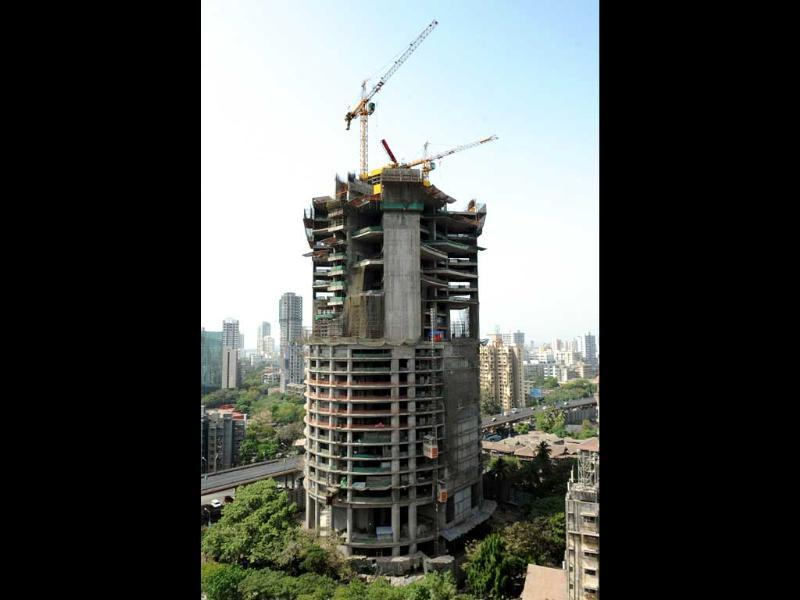 A building under-construction is pictured in a business district of Mumbai. AFP/Indranil Mukherjee
