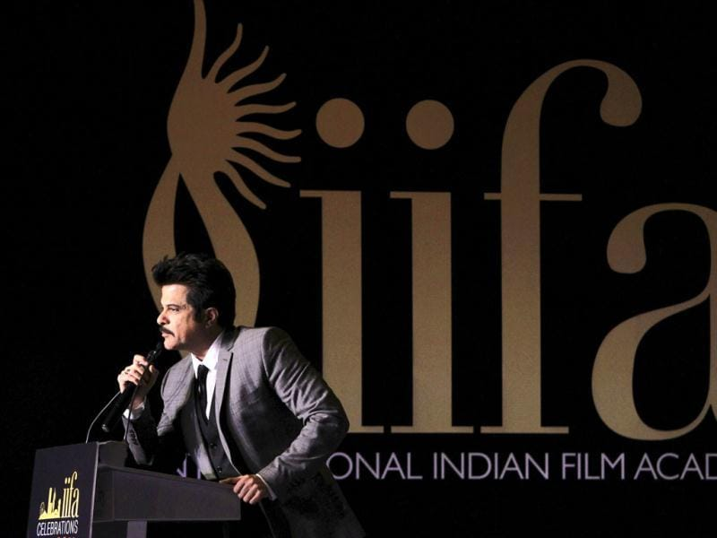 Anil Kapoor speaks at a media event to announce the venue of the International Indian Film Academy (IIFA) Weekend and Awards. (Reuters)