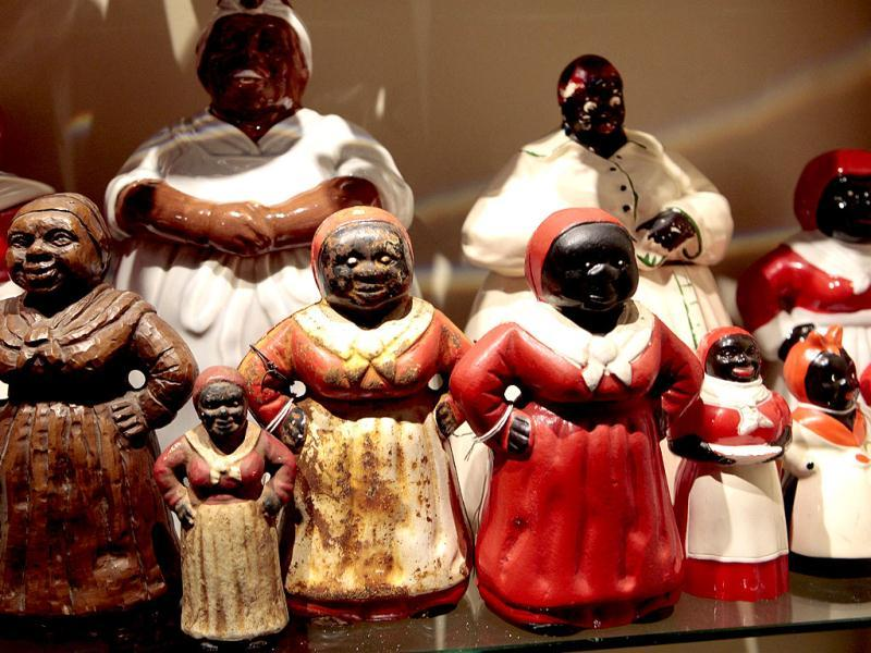 Mammy figurines are displayed at the Jim Crow Museum of Racist Memorabilia at Ferris State University in Big Rapids, Michigan. Reuters/Rebecca Cook