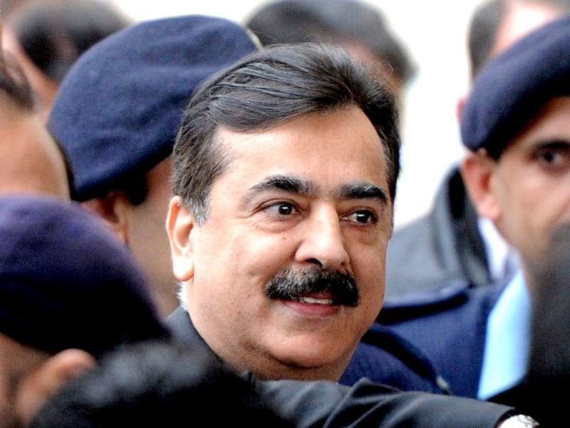 In this file photo, Pakistani Prime Minister Yousuf Raza Gilani arriving at the Supreme Court in Islamabad. (AFP Photo/Aamir Qureshi)
