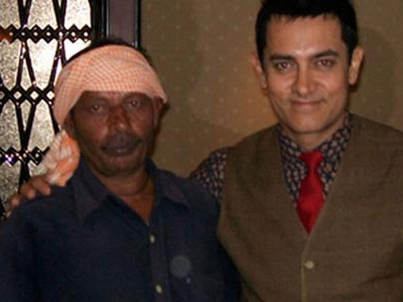 Aamir Khan with Nathuni in an old picture.
