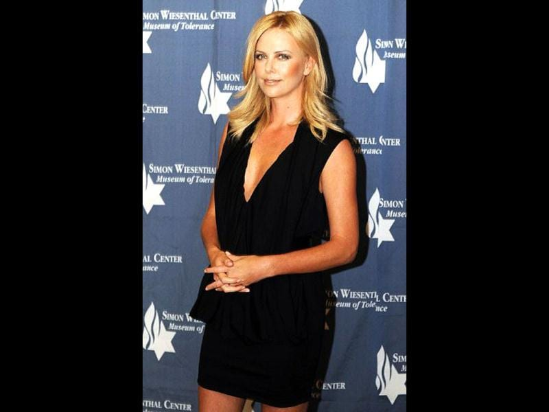 South African actor Charlize Theron grabbed the third spot.