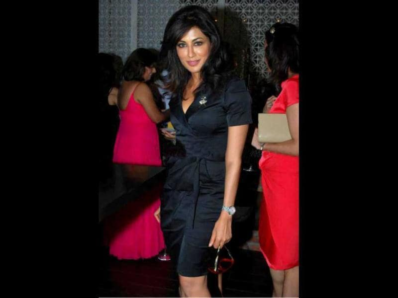 Chitrangda Singh looks hot as ever in a black dress.