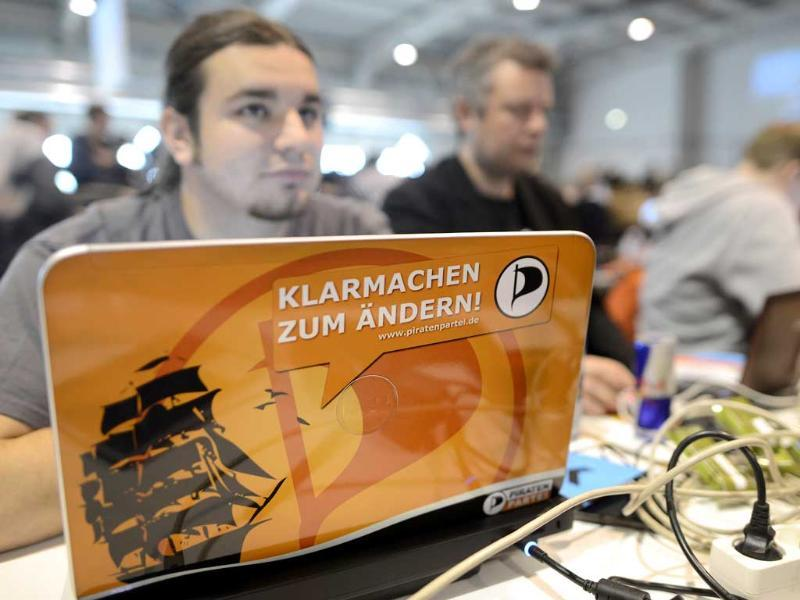 The Pirate Party started as a marginal club of computer nerds and hackers, but its appeal as an anti-establishment movement has lured many young voters to the ballot boxes, gaining it parliamentary seats in two consecutive state elections. The slogan on the laptop reads