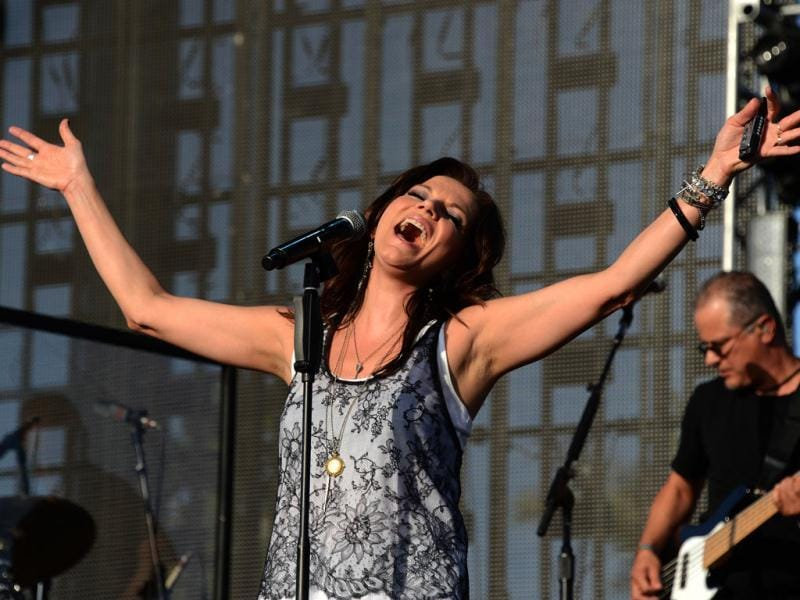 Martina McBride performs at the Stagecoach Country Music Festival in Indio, California. AFP Photo/Robyn Beck