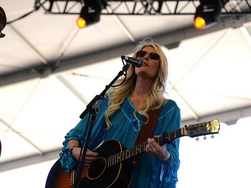 Elizabeth Cook performs on stage at the Stagecoach Country Music Festival at The Empire Polo Club in Indio, California. AFP Photo/Robyn Beck