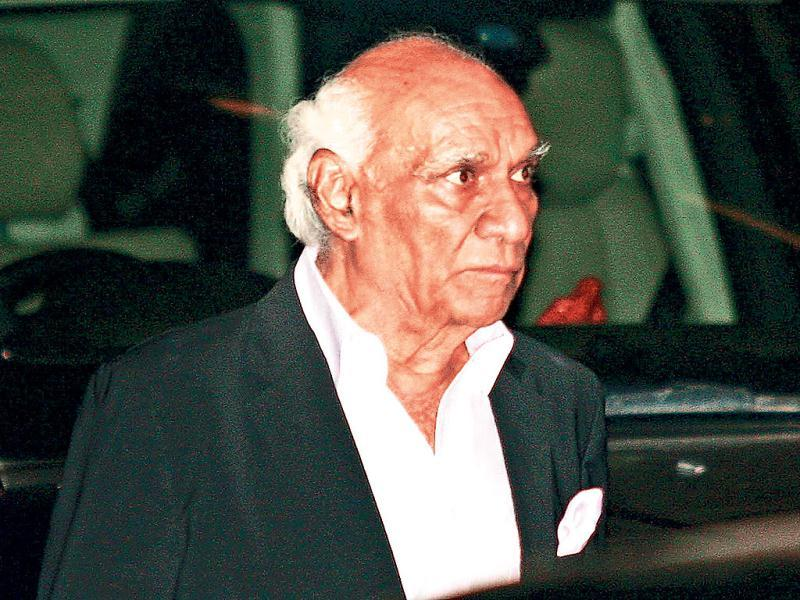 Filmmaker Yash Chopra at the event. (HT Photo)