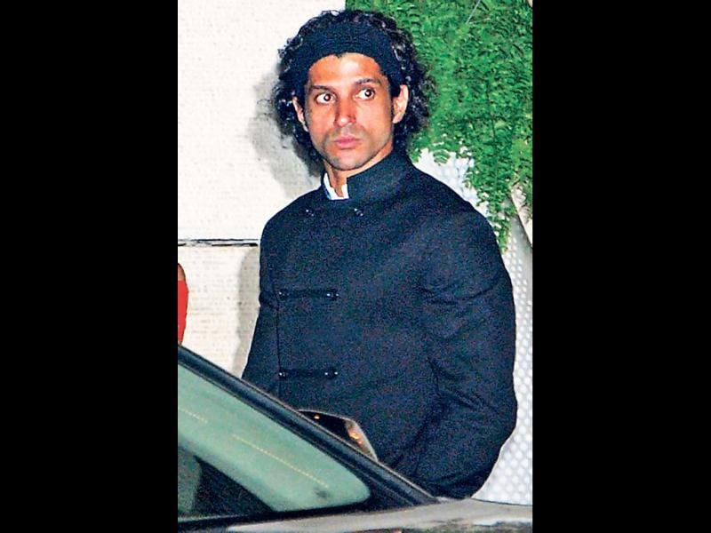 Farhan Akhtar seen in his Rock On!! look after a very long time. (HT Photo)