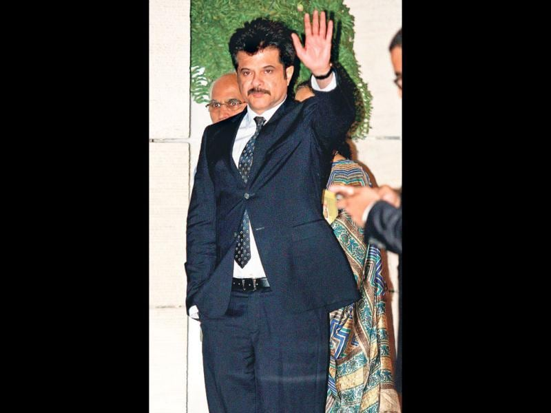 Actor Anil Kapoor was also present at the star-studded event. (HT Photo)