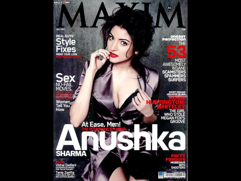 Anushka Sharma sizzled in the July 2011 cover of Maxim magazine.
