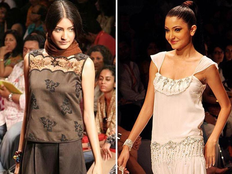 Anushka began her career with modeling. She walked ramp at Lakme Fashion Week as a model for Wendell Rodricks's Les Vamps Show.