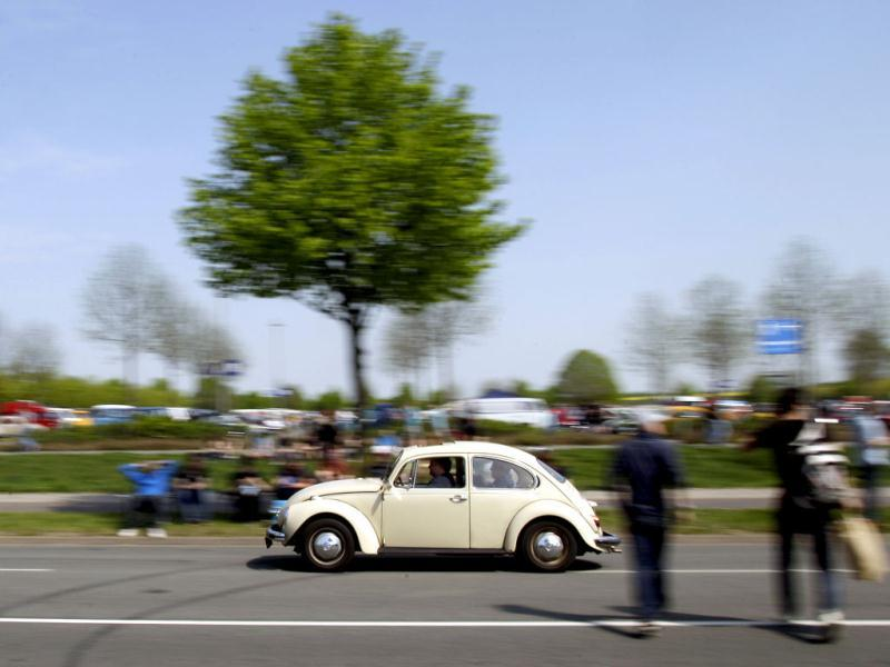 A vintage Volkswagen car is seen during the 29th annual