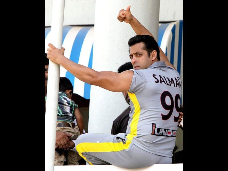Salman Khan poses for the camera. (PTI Photo)