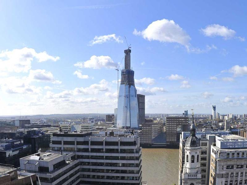 The Shard London Bridge is seen on the skyline in London. When completed in 2012, it is expected to become the tallest building in the European Union and the 45th tallest building in the world. (Reuters)
