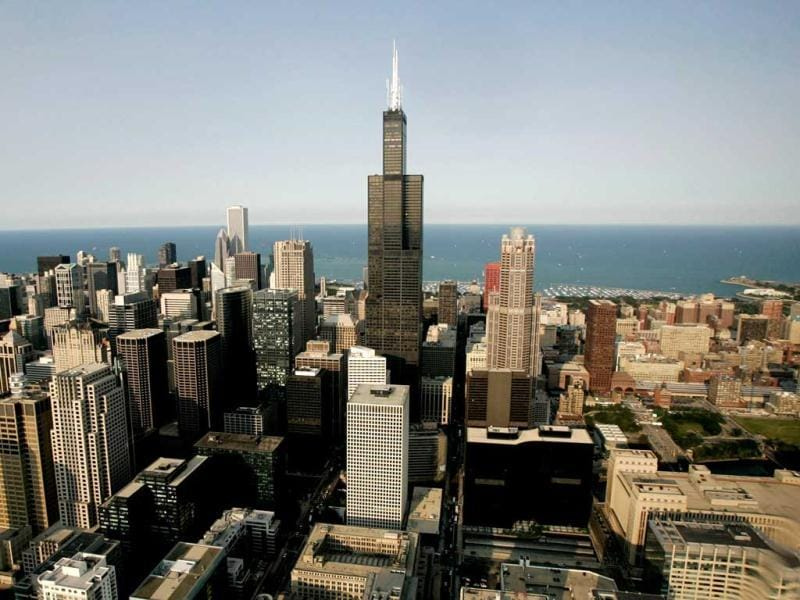 Chicago's newly named Willis Tower, formerly the Sears Tower, is the eighth tallest.(Reuters)