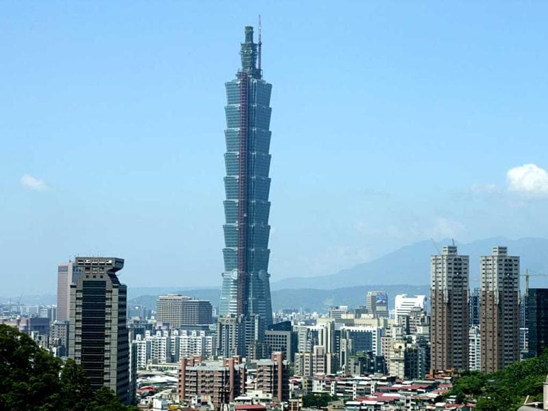 The Taipei 101 in Taiwan is the second tallest.(Reuters)