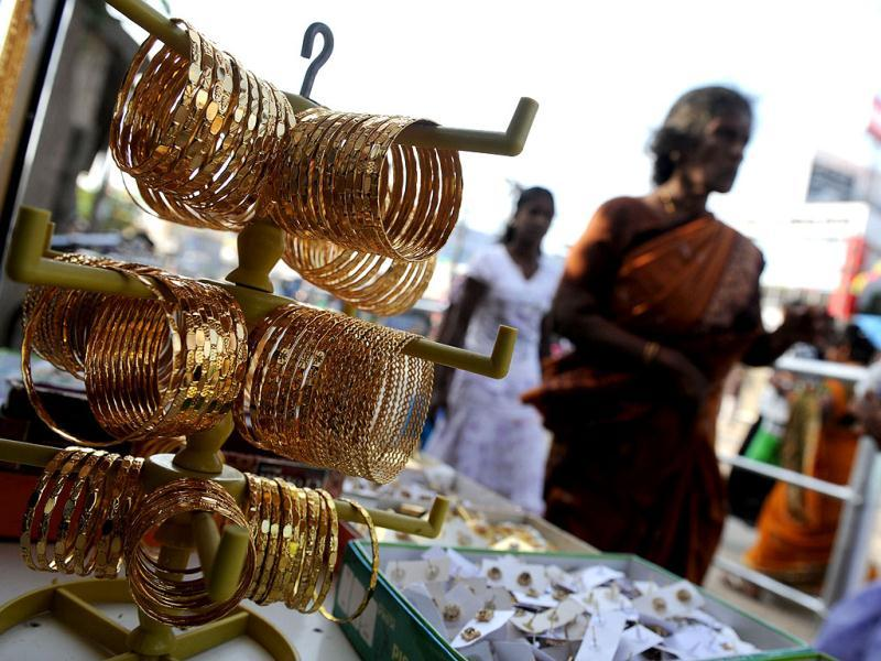 Jewellery is displayed at a shop in Jaffna. Sri Lanka recorded an impressive 8.3% growth rate last year, up from 8.0% in 2010, the first full year after troops defeated Tamil separatist rebels in May 2009. AFP Photo/Ishara S. Kodikara