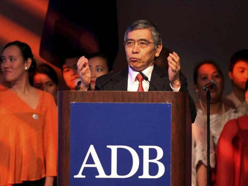 Asian Development Bank President Haruhiko Kuroda delivers his message during the opening session of the 45th annual meeting of the Board of Governors of Asian Development Bank at the Philippine International Convention Centers in Pasay City, south of Manila. AP Photo/Pat Roque