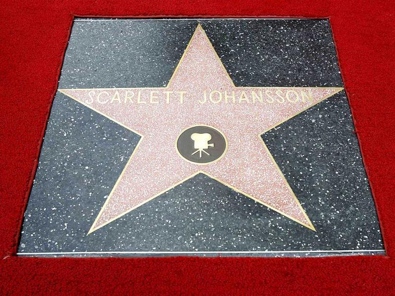 Johannson received star number 2,470 in the motion picture category.
