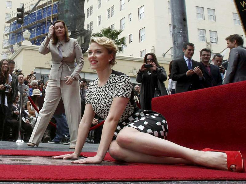 Hollywood star Scarlett Johansson was recently honoured at the Hollywood Walk of Fame.