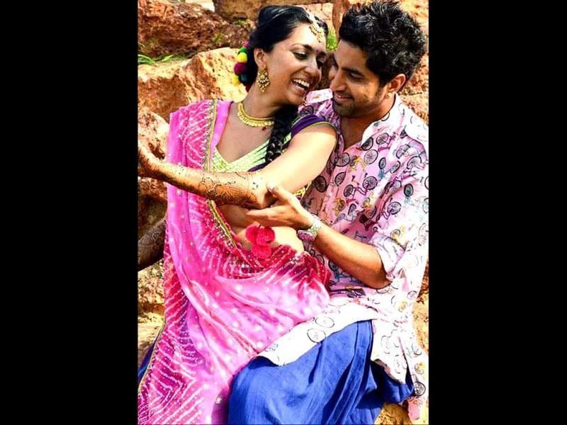 Honeymoon will have to wait for a while as Shveta is busy shooting for a Marathi film.