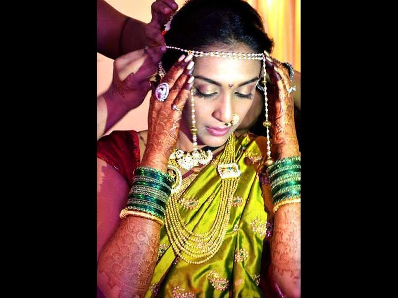 Shveta Salve get set for her Maharastrian wedding.