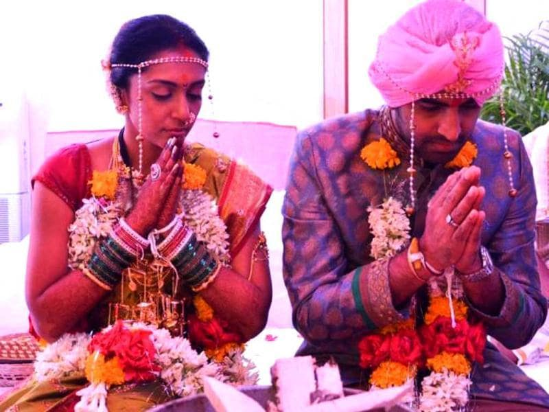 Shveta and Harmeet during their wedding.