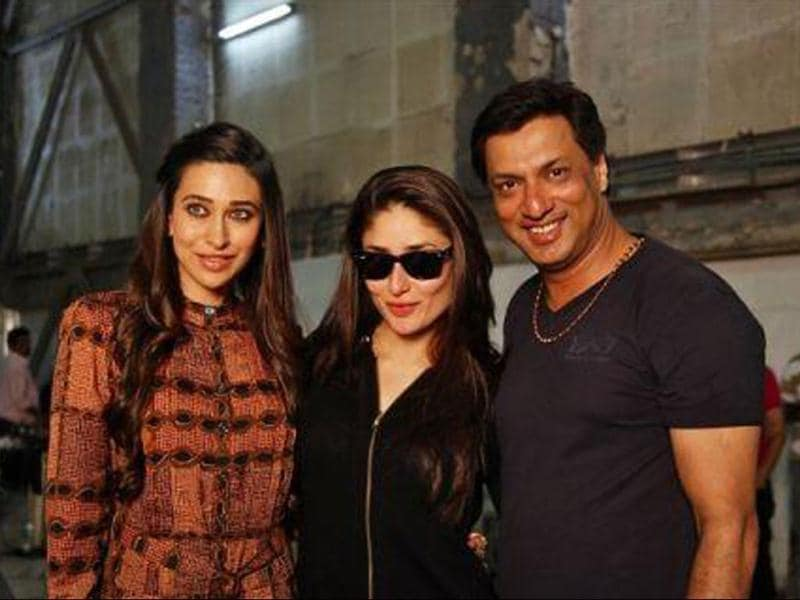 Kareena Kapoor was spotted with sister Karisma and director Madhur Bhandarkar on the sets of Heroine. Here's a look at the actor shooting for the film.