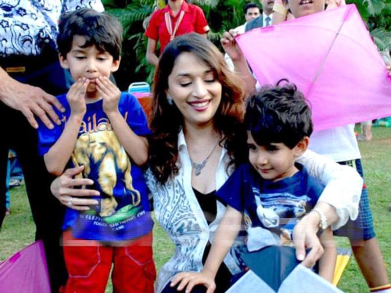 Mother of two- Arin and Ryan, Madhuri Dixit left Bollywood at the peak of her career to be a full time mom. She is all set to make a second comeback with Dedh Ishqiya and Gulab Gang.