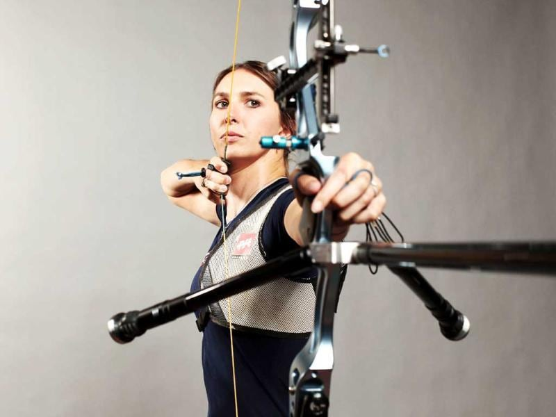 Archer, Jennifer Nichols poses for a portrait during the 2012 Team USA Media Summit in Dallas, Texas. Nick Laham/AFP