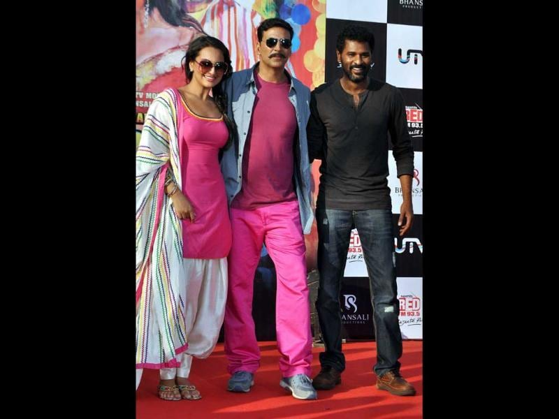 Rowdy Rathore directed by Prabhu Deva released on 1 June. It grossed around Rs 133 crore. (AFP PHOTO)