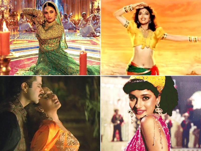 Madhuri Dixit, the glam diva of 90s, is known as much for her dance numbers as for her back-to-back blockbusters. Her charm and screen presence gave her an iconic status. Here's a look at some of her famous dance numbers.