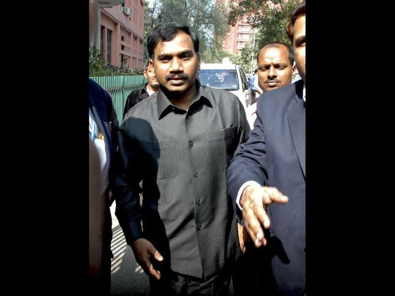 Former telecom minister A Raja has been granted bail by a special CBI court after being jailed for the last 15 months. (AFP Photo)