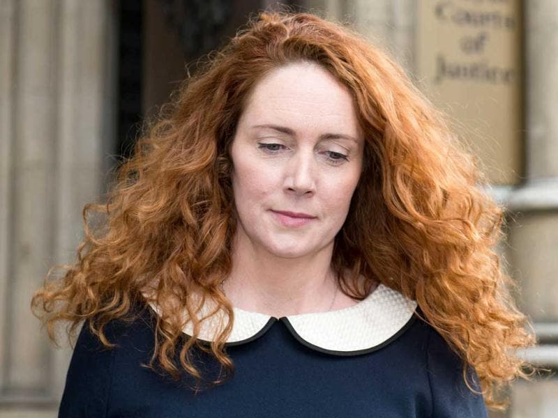 A file picture shows former CEO of News International Rebekah Brooks leaving the High Court in London. (AFP Photo)