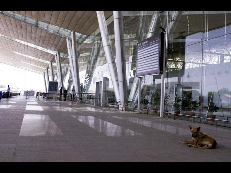 Sardar Patel International Airport in Ahmedabad wears a deserted look as Air India cancelled its three flights including one to London due to the ongoing pilot strike.