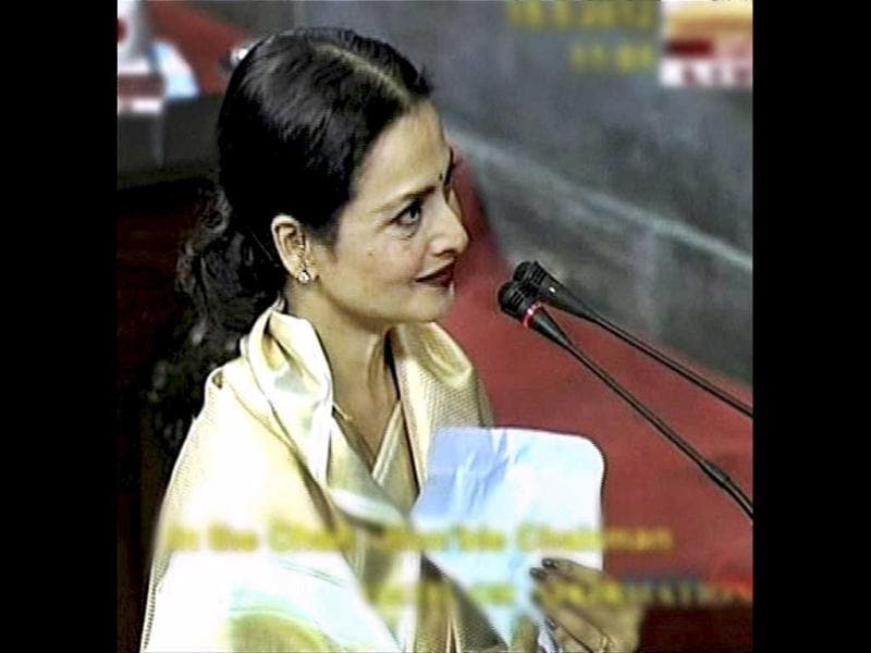 The online world was amused to see the cameras focus on Rajya Sabha MP, actor Jaya Bachchan, when Rekha, her husband Amitabh Bachchan's ex-flame took the oath in what appeared like a well-prepared moment.